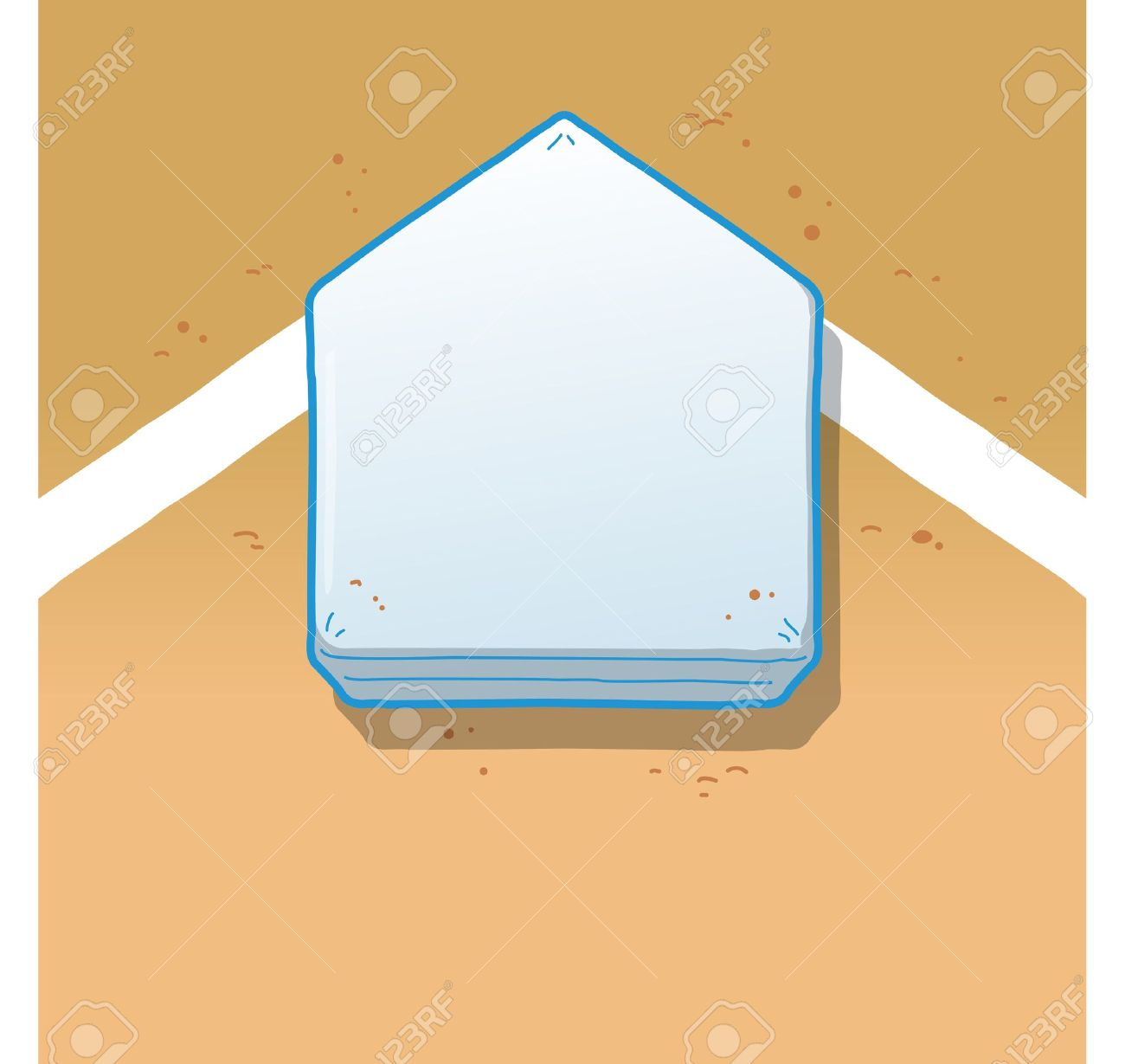 Overhead View of Home Plate on a Baseball Field Stock Vector - 20686756