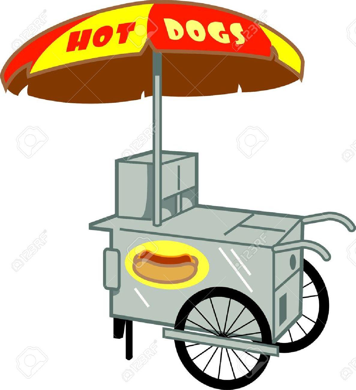 hot dog stand cart vendor royalty free cliparts vectors and stock rh 123rf com  clip art cartoon hot dogs