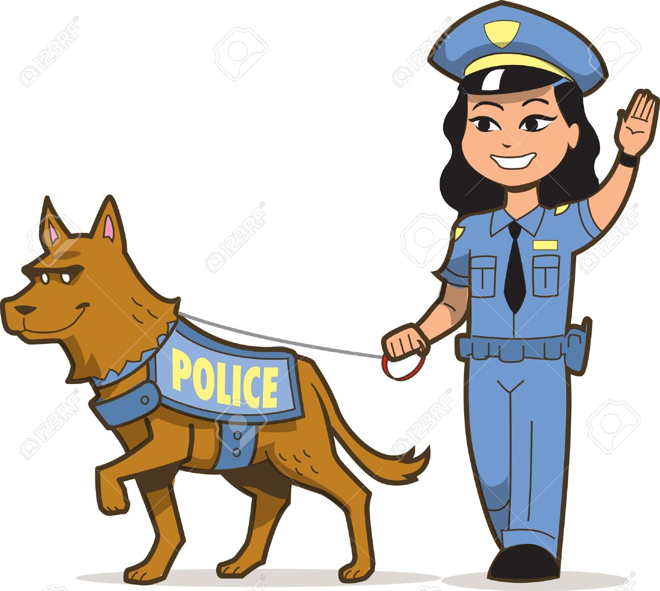 k 9 police dog and asian female police officer royalty free cliparts rh 123rf com free clip art police officer free clip art police officer