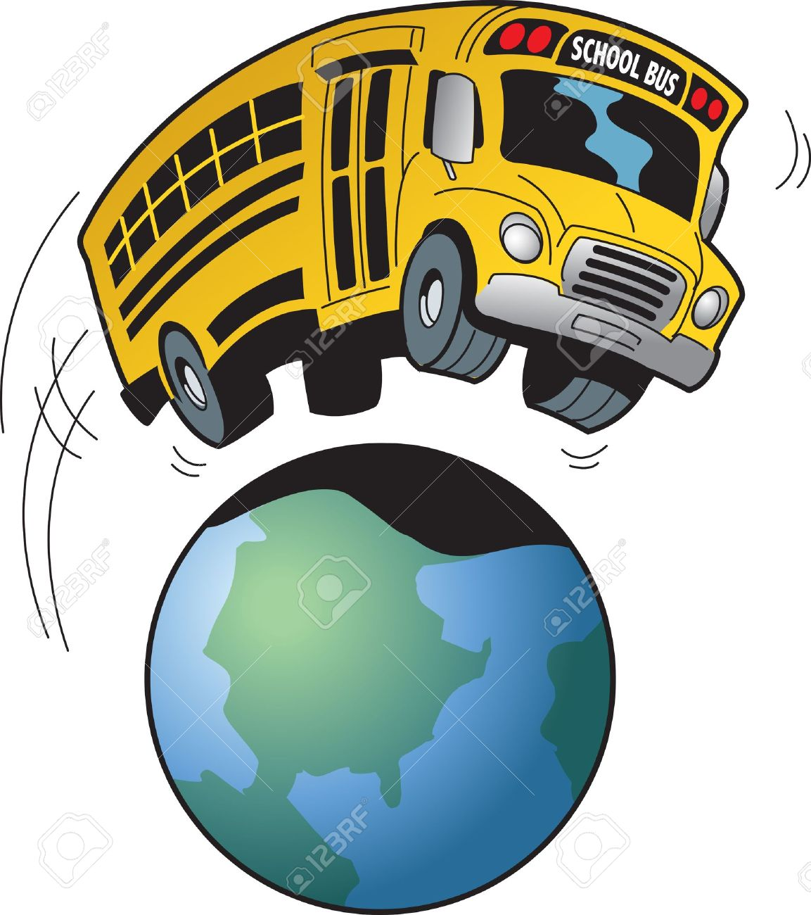 cartoon of a school bus going on a field trip to anywhere in rh 123rf com field trip clip art images field trip border clip art