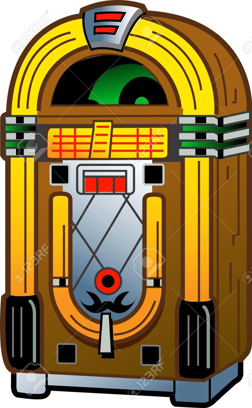 cartoon illustration of a vintage antique jukebox royalty free rh 123rf com jukebox clipart black and white jukebox clipart