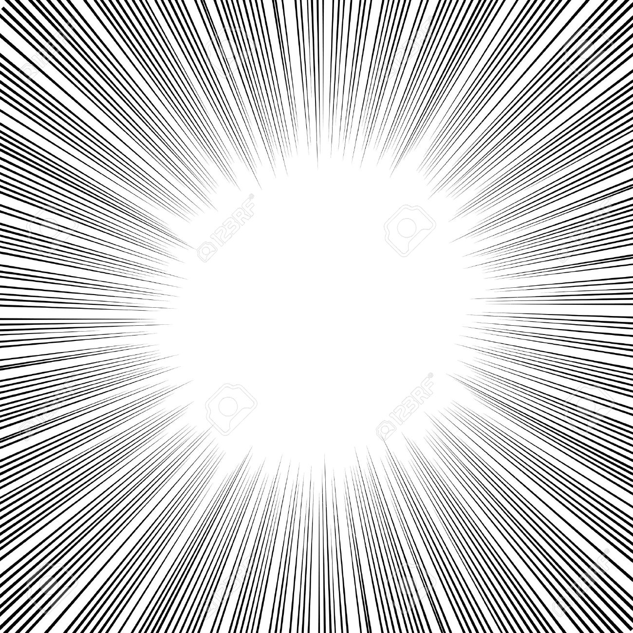 漫画本漫画やイラストで放射状の速度ライン グラフィック効果を使用し