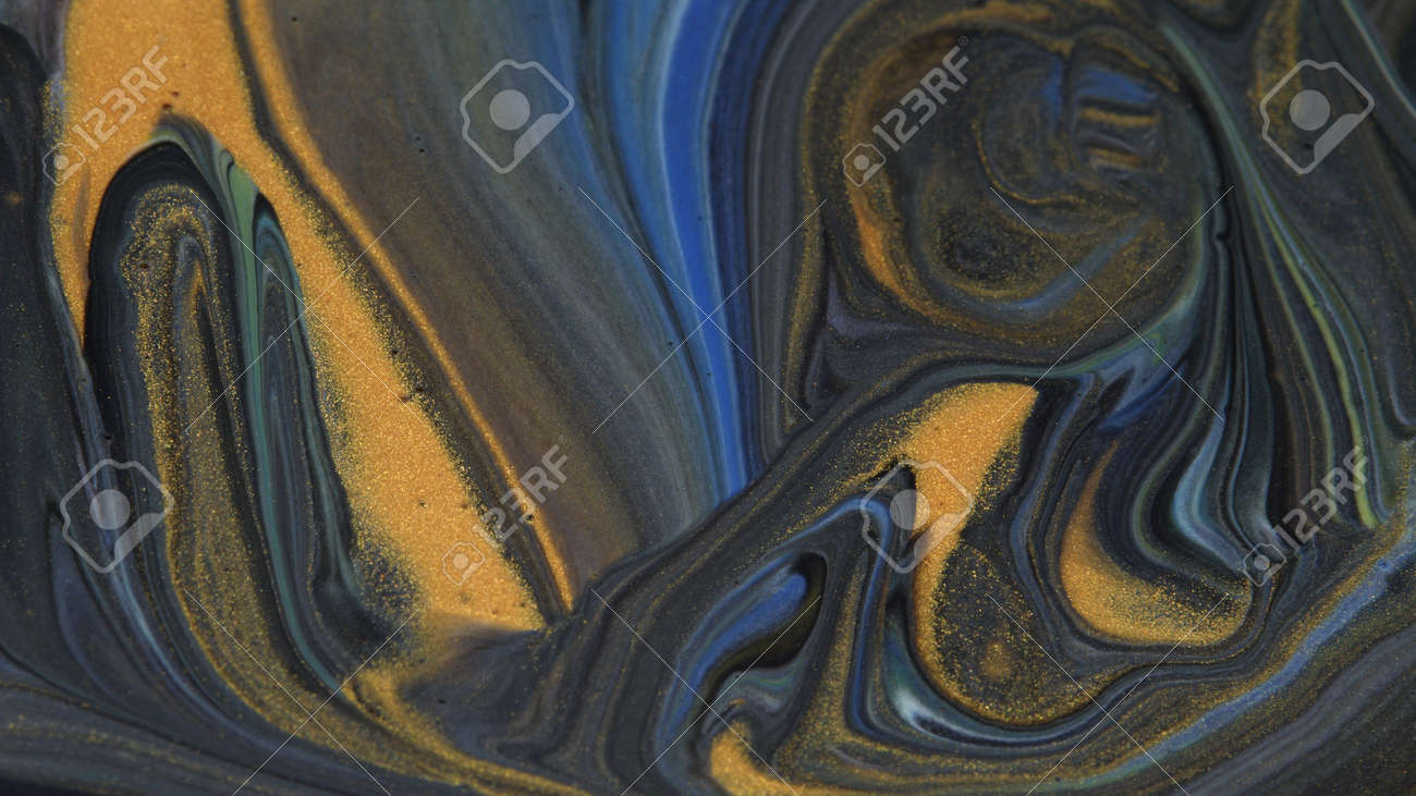 Abstract colorful background of spreading colors. Abstract dark paint background. - 165169305