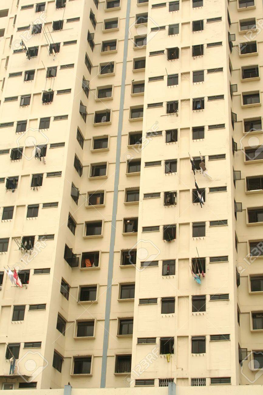 Crowded Flats showing overpopulation and living in close quarters Stock Photo - 2942528