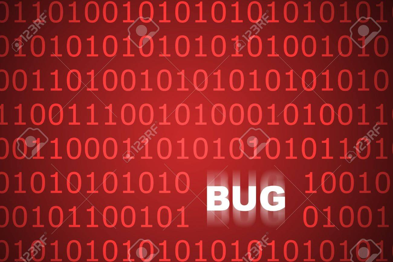 System Bugs Abstract Background in Web Security Series Set Stock Photo - 3142191