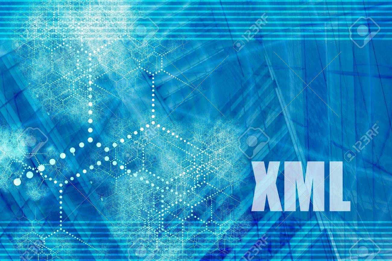 Background image xml - Xml Blue Abstract Background With Internet Network Stock Photo 3374158