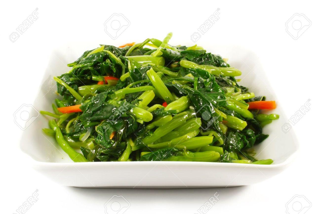 Style De Cuisine Asiatique Chinois Sauté De Légumes Plat Blanc Sur ...