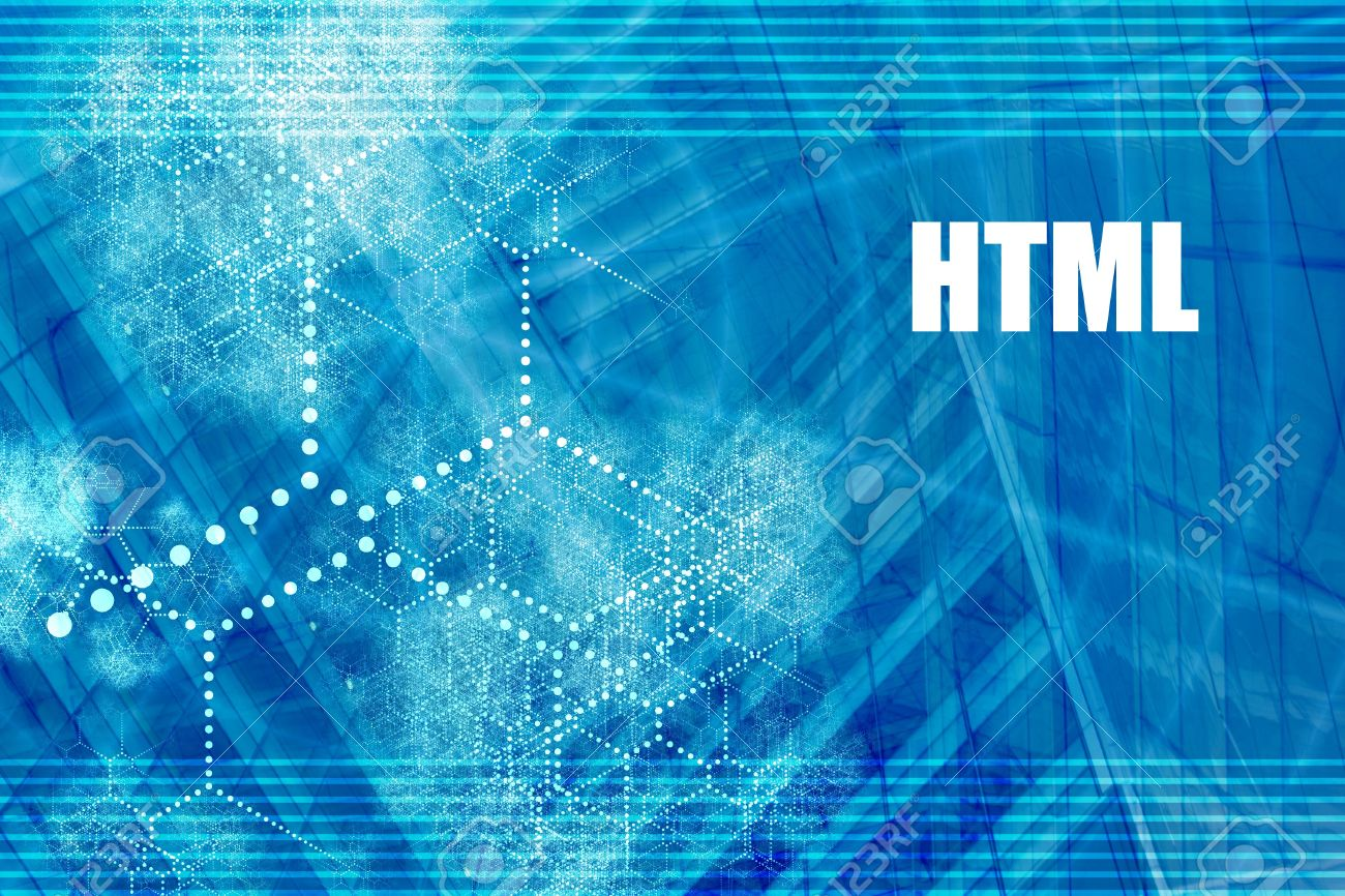 HTML Coding Language Abstract Background With Internet Network
