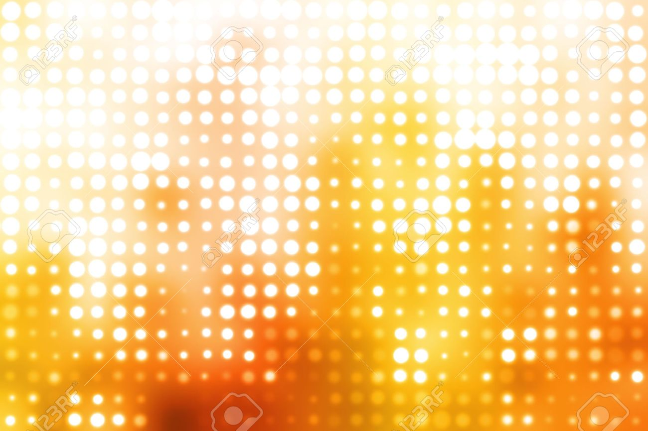 Orange and White Glowing Futuristic Light Orbs Abstract Background Stock Photo - 3651066