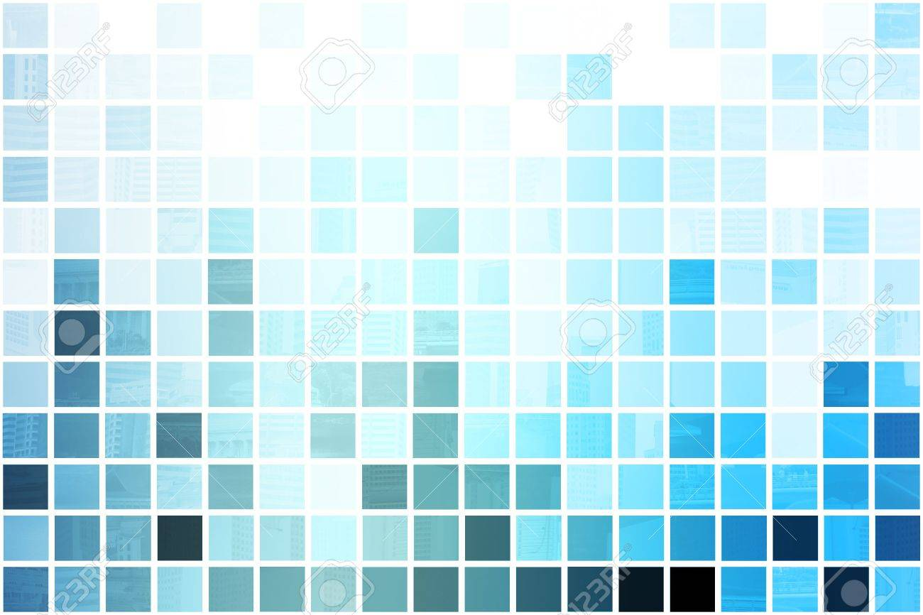 Blue Simplistic and Minimalist Abstract Block Background Stock Photo - 3688663