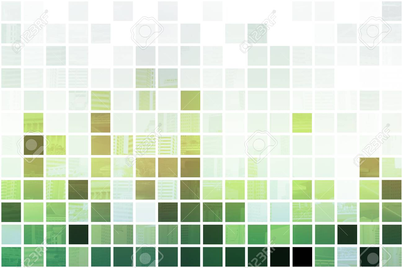 Green Simple and Clean Background Abstract in Grid Stock Photo - 3688666