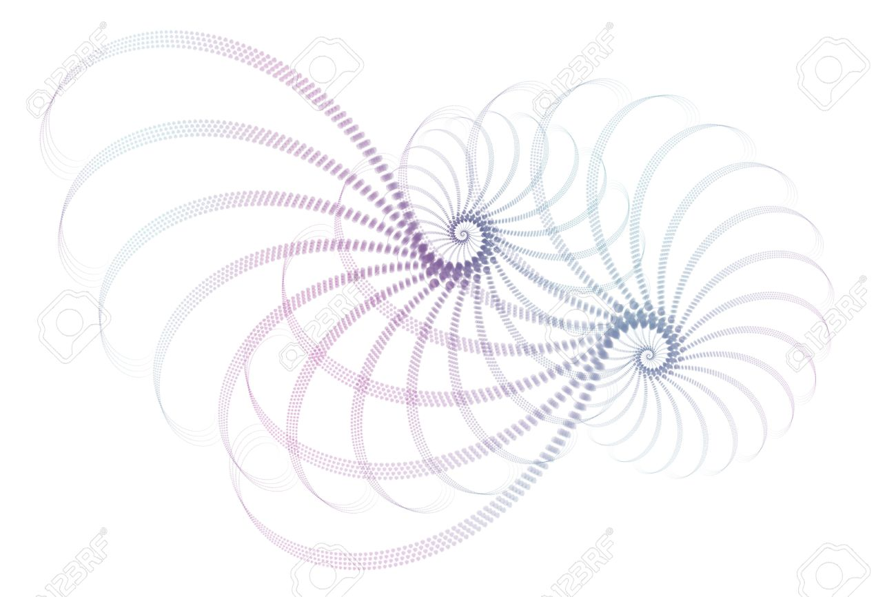 Blue Purple White Fractal Abstract Design Background Wallpaper Stock Photo