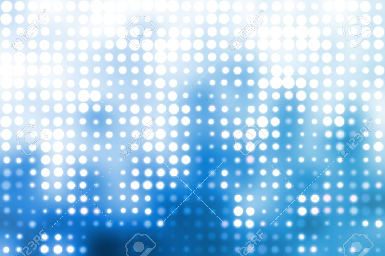 Blue And White Trendy Orbs Cool Abstract Background Stock Photo
