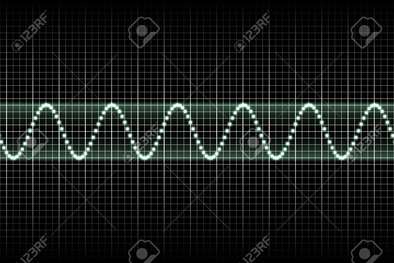 Futuristic Thumping Music Beats With Sound Waves Going Up and Down Stock Photo - 3856906