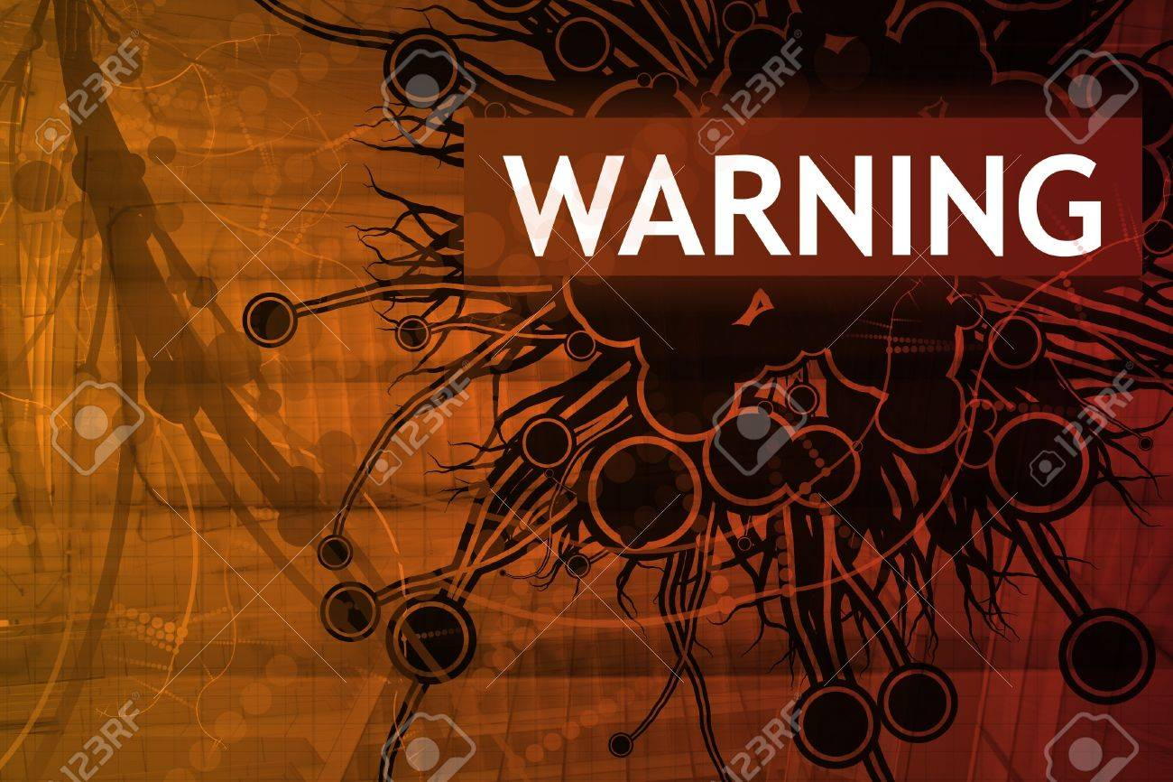 Warning Security Alert Abstract Background in Red Stock Photo - 4001982