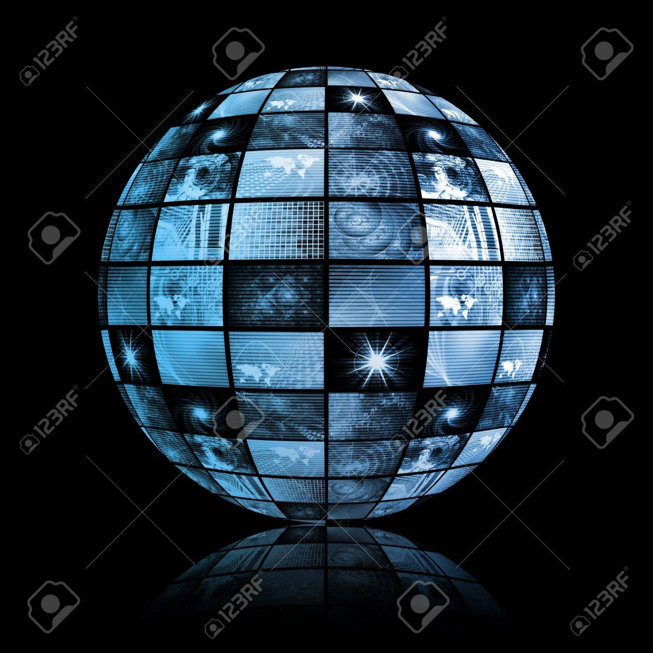 Global Media Technology World Sphere Clip Art Stock Photo - 4155274