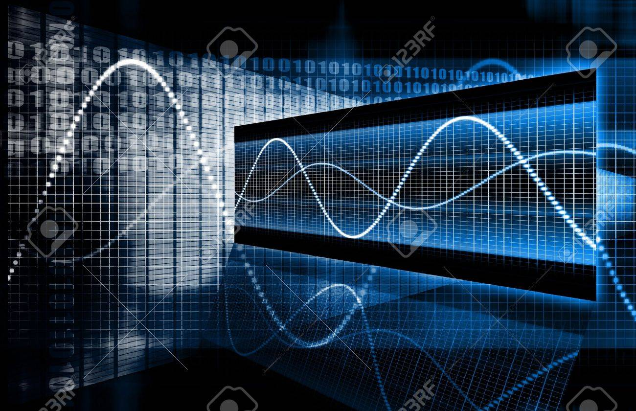 A Multimedia Technology Data as Art Background Stock Photo - 4231082