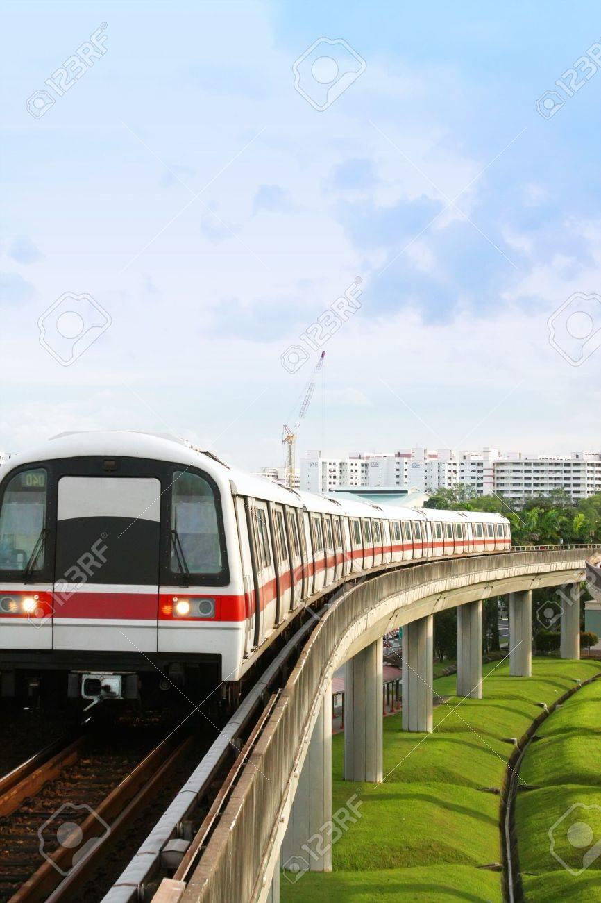 Singapore Mass Rapid Transit MRT Train Travel Stock Photo - 4276341