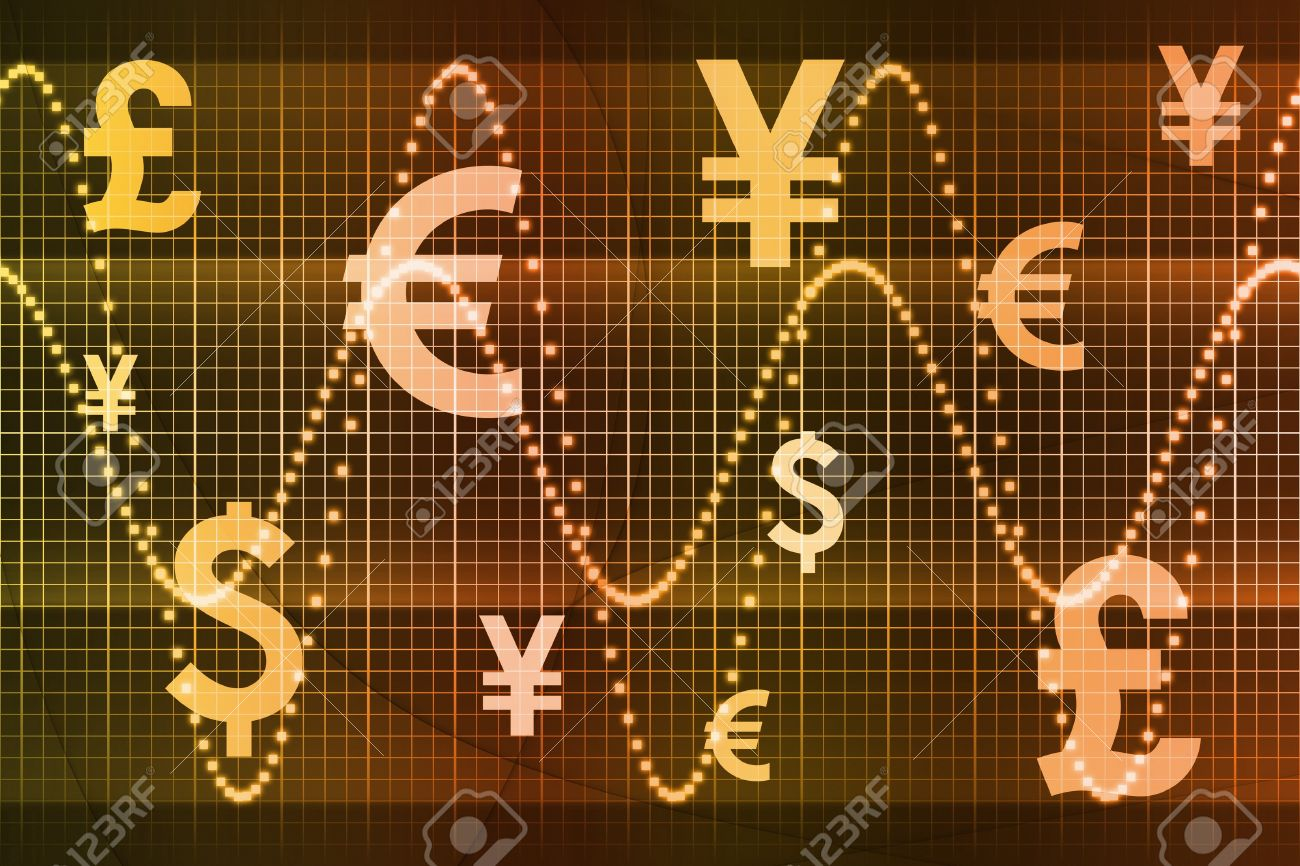 Gold World Currencies Business Abstract Background Wallpaper Stock Photo - 4276352