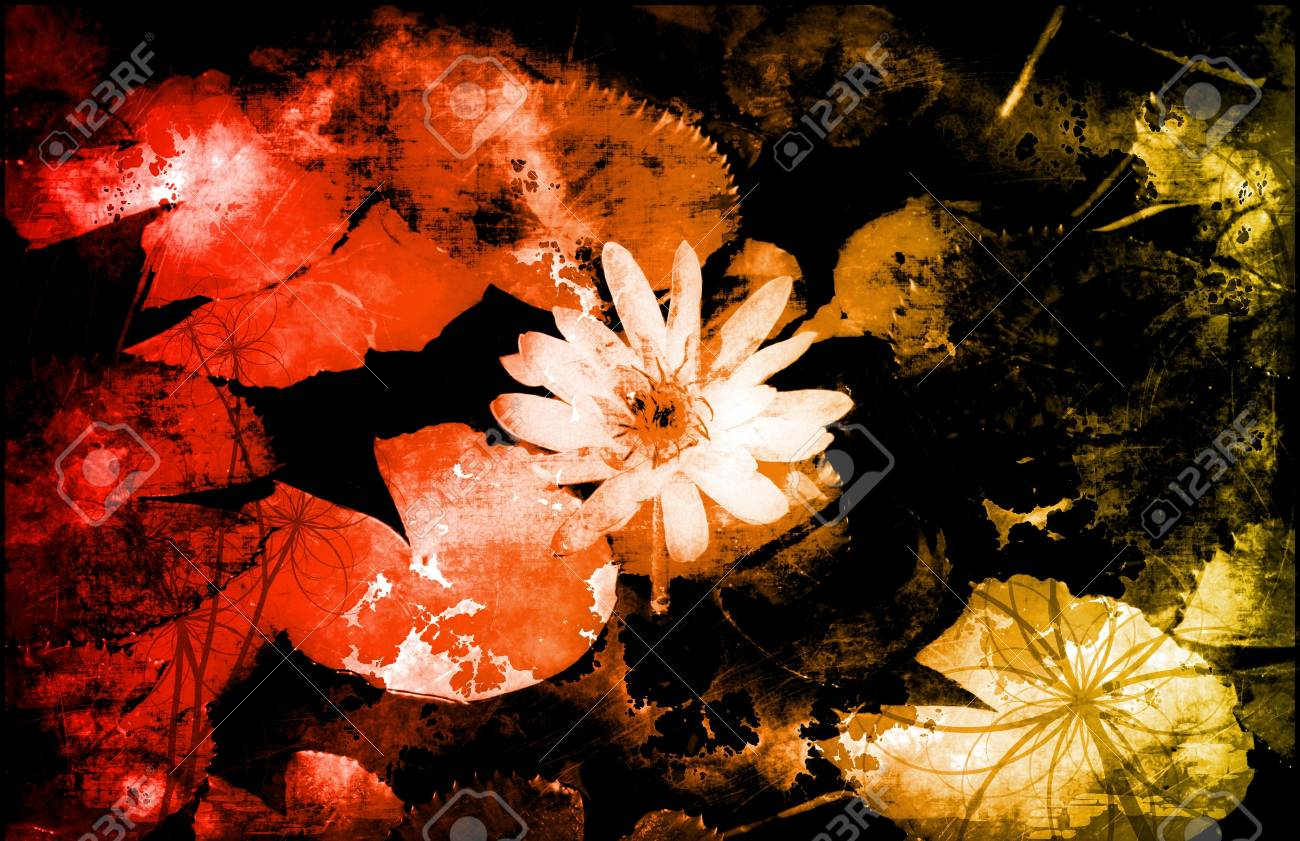 A Grunge Floral Decor Old Texture Background Stock Photo - 4276406
