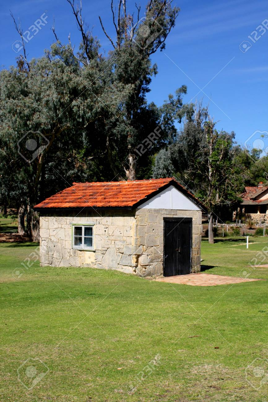 Cottage Farm House Shed in the Summer Stock Photo - 4778636