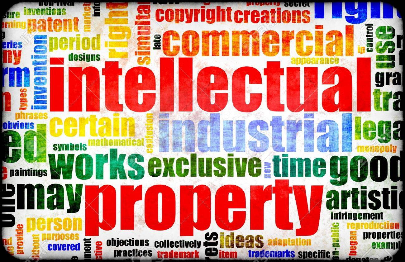 Intellectual Property Concept Word Cloud as Art Stock Photo - 4886310