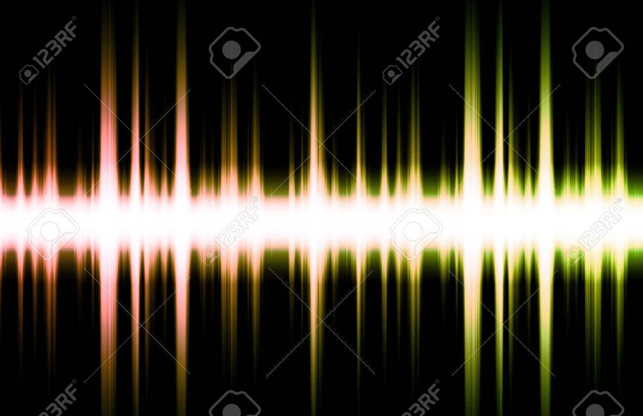 Soundwave Digital Graph as Clip Art Abstract Stock Photo - 4926609