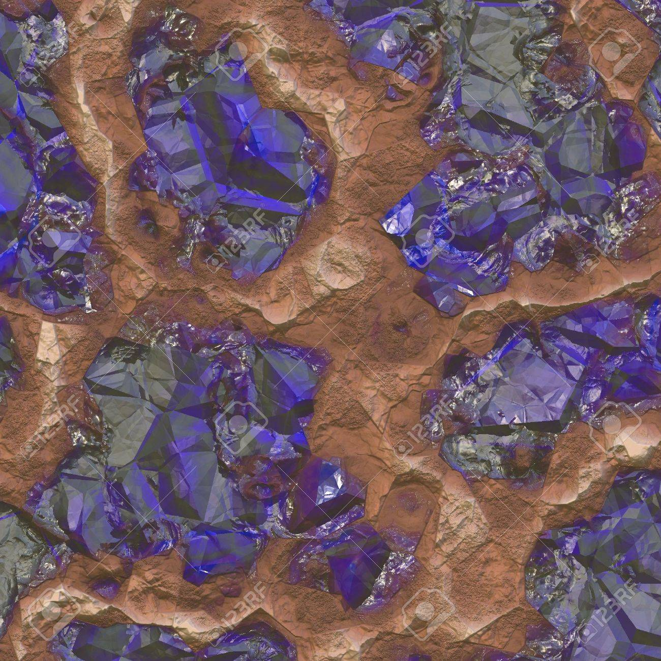 Sapphire Stones Discovered Inside a Mine Quarry Stock Photo - 4991738