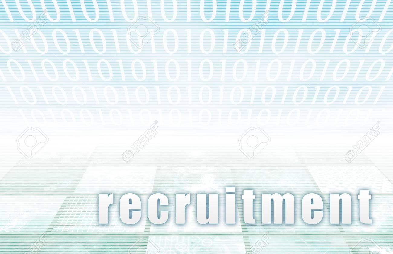 Recruitment on a Clear Blue Tech Art Stock Photo - 5020793