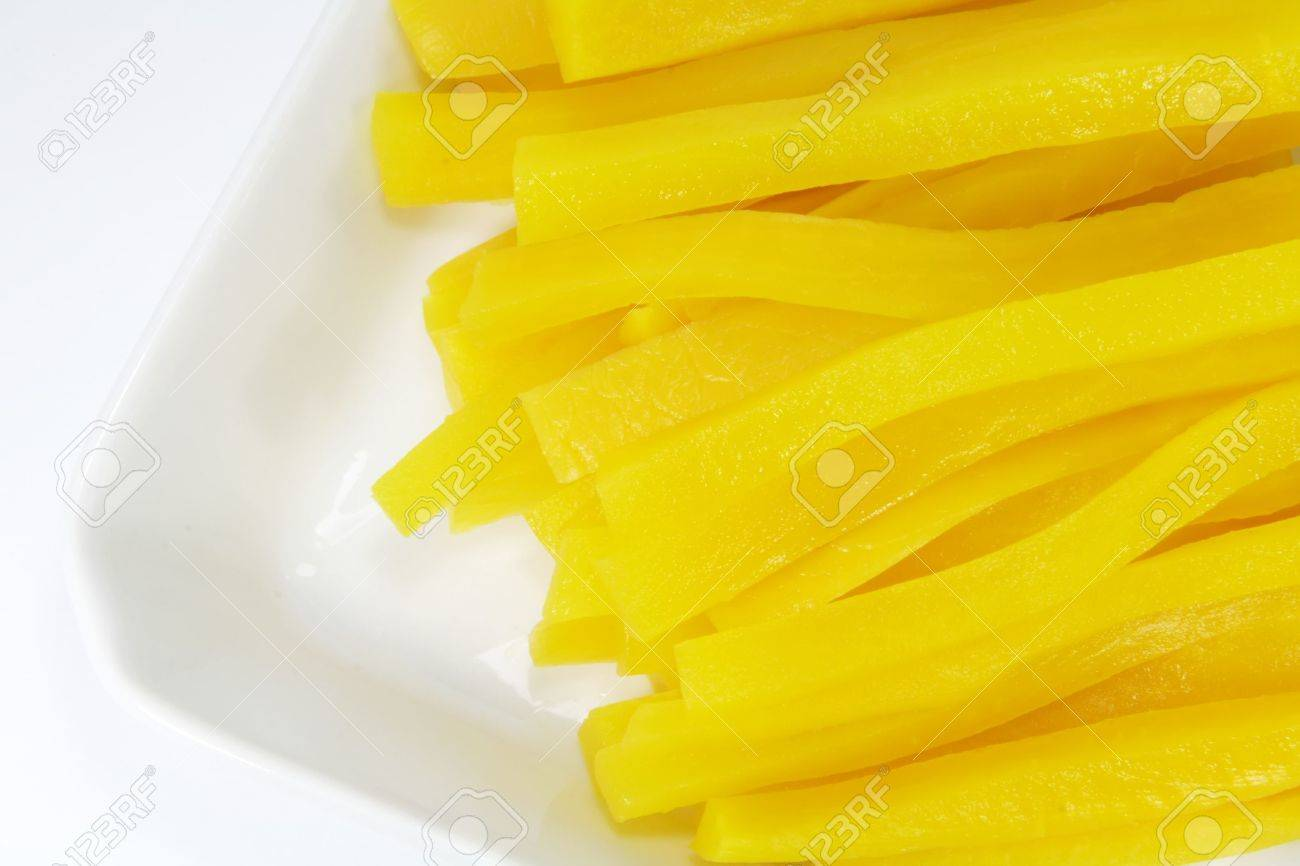 Yellow Pickled Radish Used In Korean And Japanese Dishes Stock Photo Picture And Royalty Free Image Image 5020935