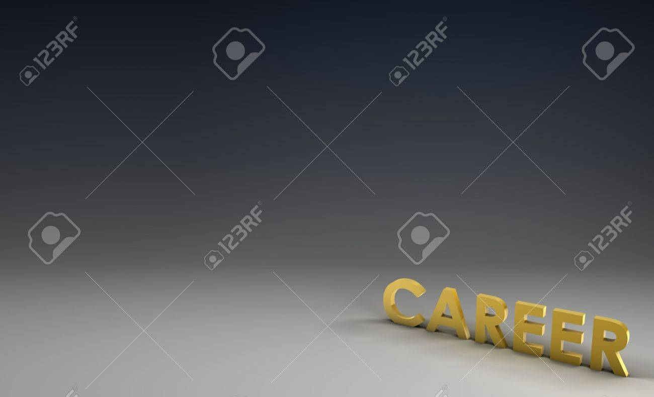 career job focus in 3d on corporate background stock photo career job focus in 3d on corporate background stock photo 5141493