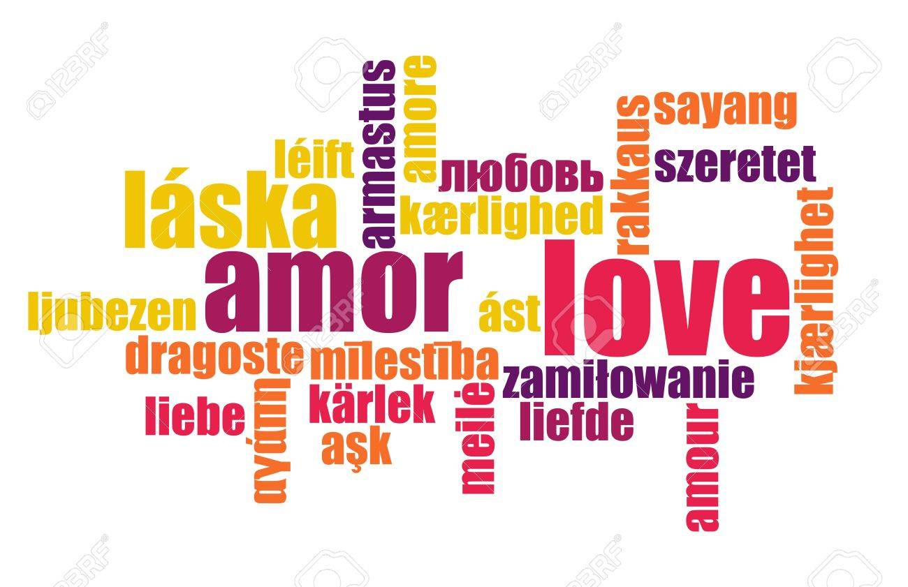 Love in Many Languages Text Abstract Background Stock Photo - 5247016