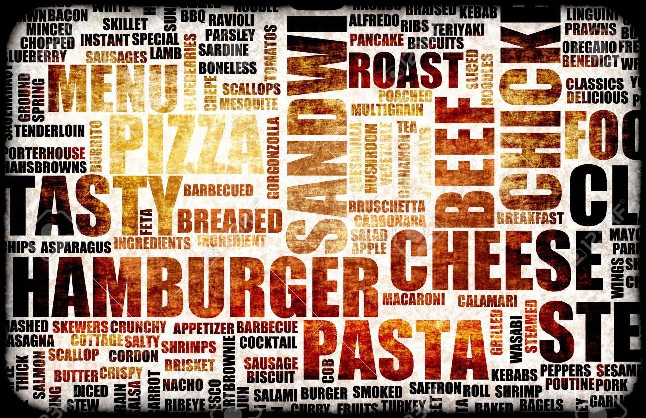 Food Menu Background as Grunge Template Mat Stock Photo - 5247028