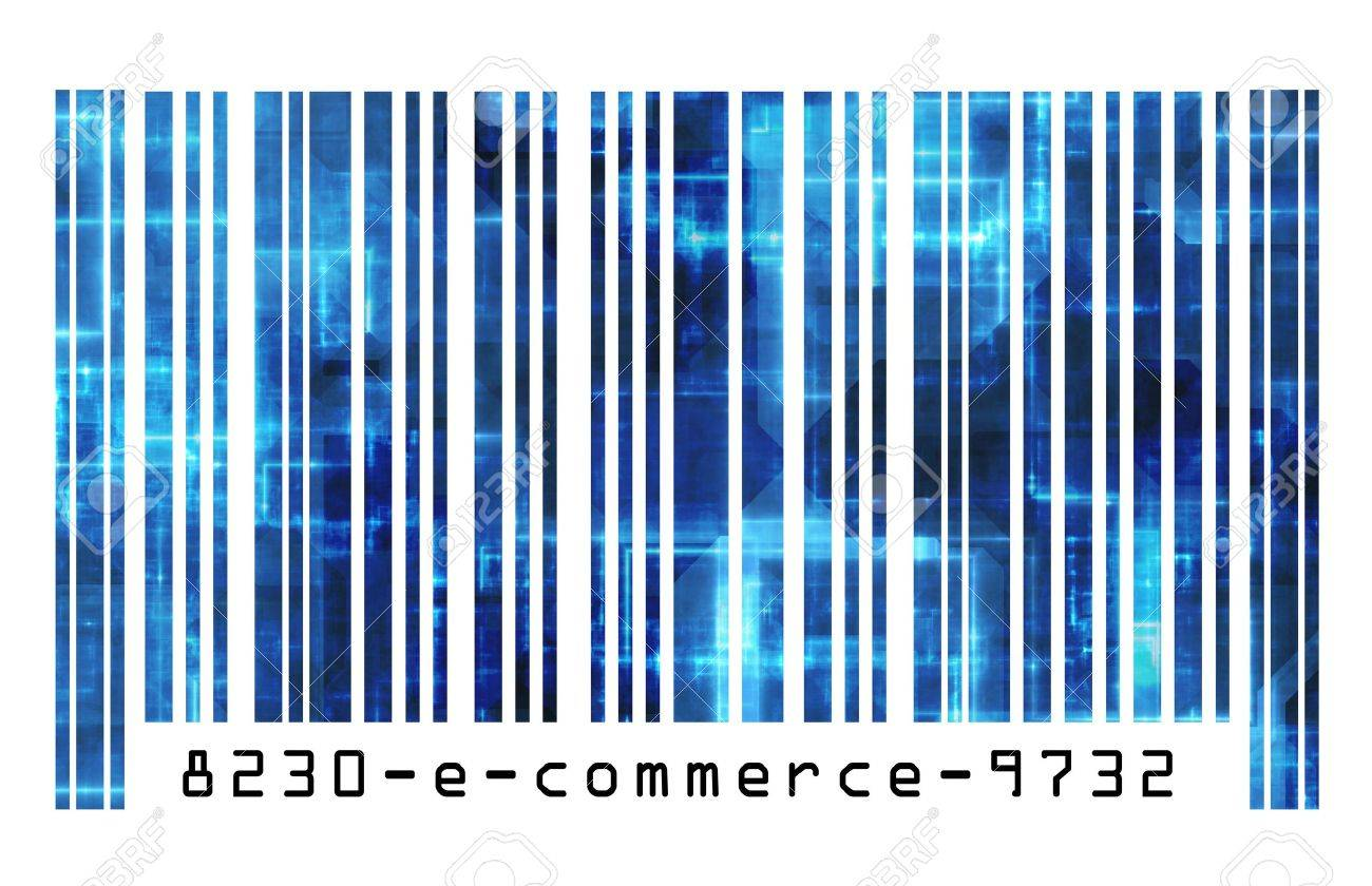 Online Shopping E-commerce on the Internet Barcode Stock Photo - 5296753