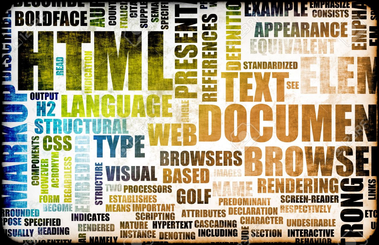 HTML Script Code as an Education Background Stock Photo - 5393460