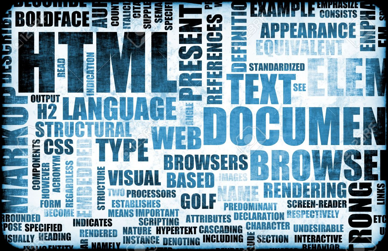 Blue Html Script Code As An Background Stock Photo Picture And Royalty Free Image Image 5406528