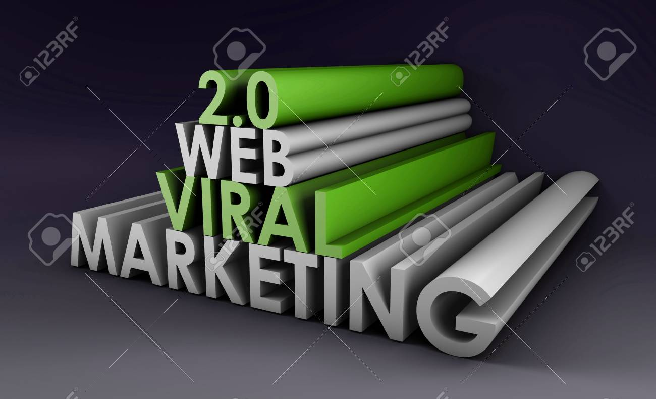 Web 2.0 Viral Marketing Method Online in 3d Stock Photo - 5501977