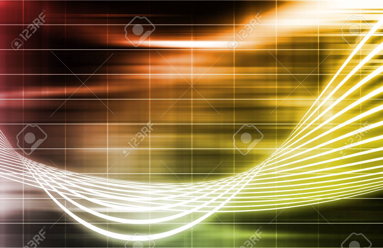 An Energy Spectrum With Data Grid Lines Stock Photo - 5660833
