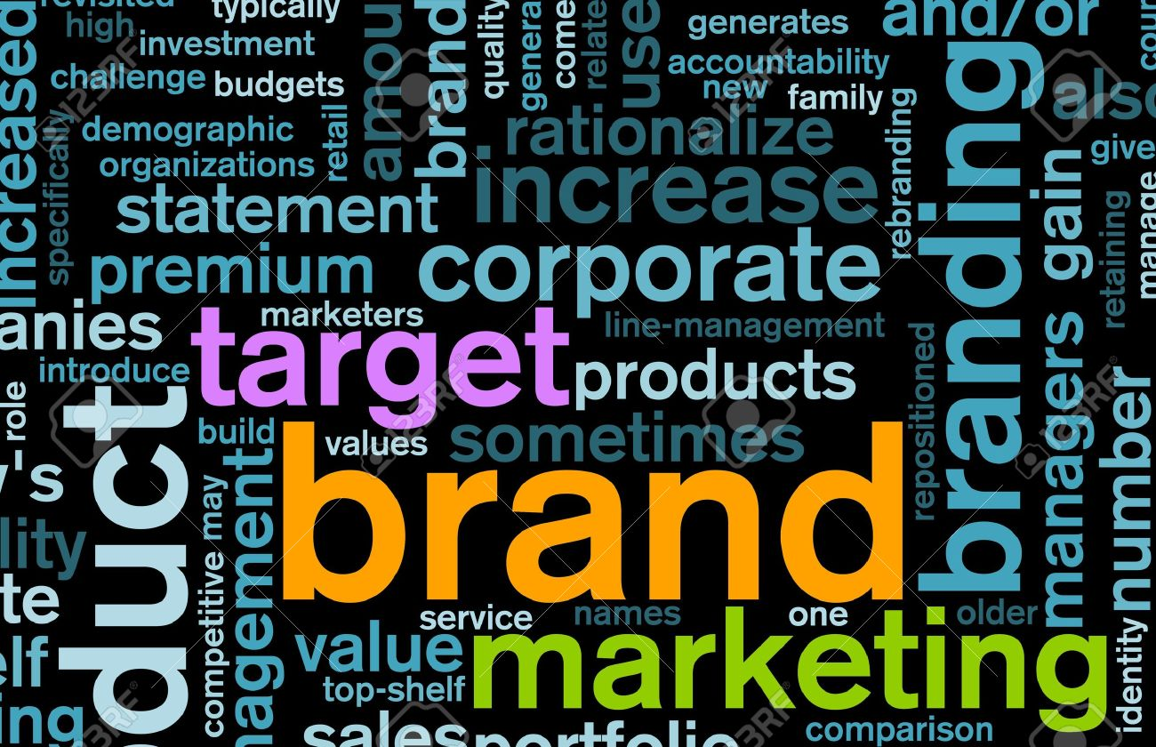 Branding of Market Product Word Cloud Background Stock Photo - 5660864