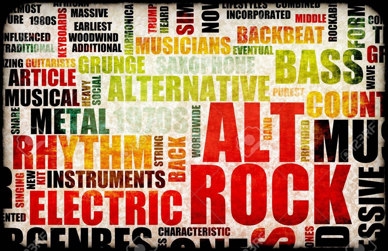 Alt Rock Music Poster Art As Background Stock Photo, Picture And ...