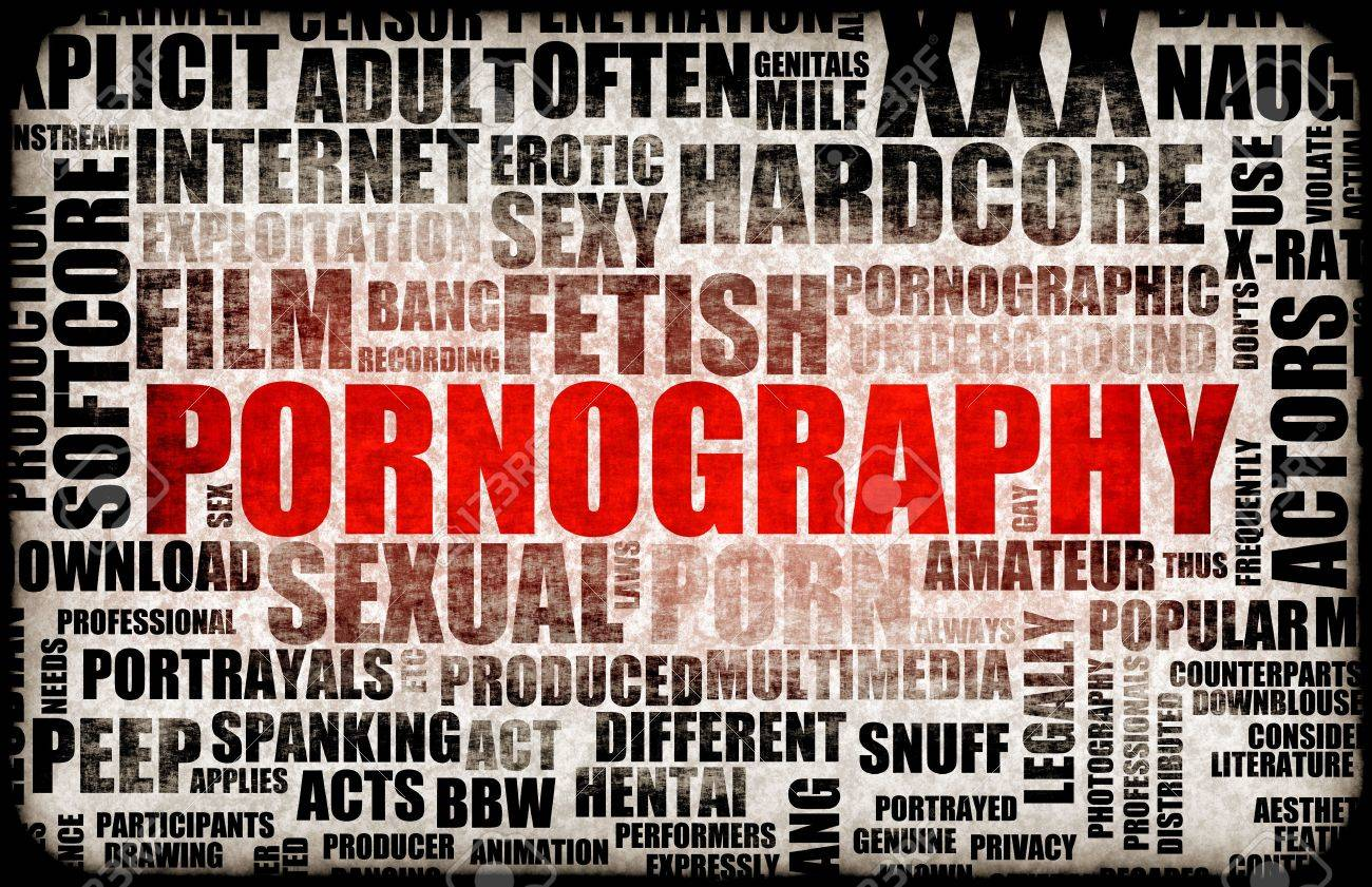 Pornography Adult XXX Content as Grunge Abstract Stock Photo - 5711977