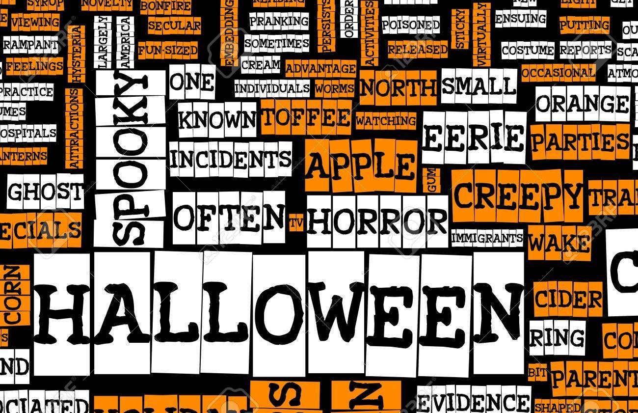 Halloween Art Background Black Orange and White Stock Photo - 5716619