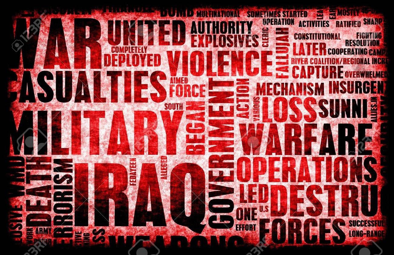 Iraq War as a Grunge Abstract Background Stock Photo - 5735789