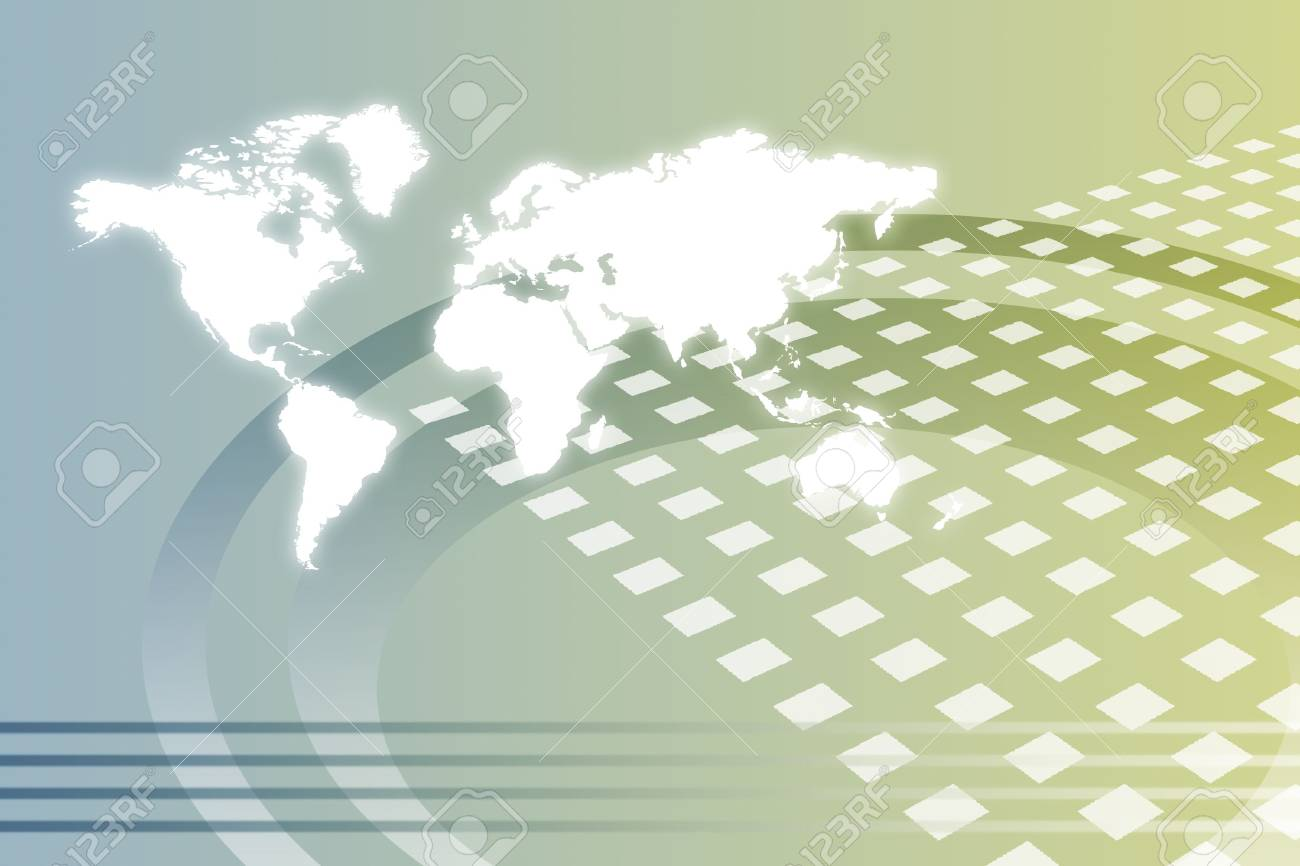 Corporate Worldwide Growth Abstract Background With Map Stock Photo - 5761622