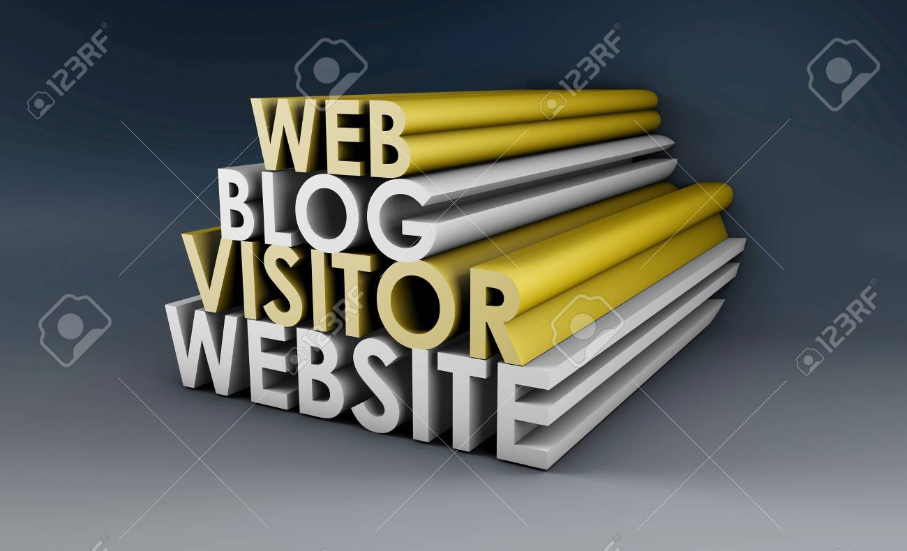 Blog Website with Web Visitor in 3d Stock Photo - 5796766