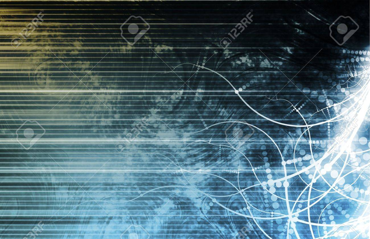 Information Technology Data Network as a Abstract Stock Photo - 6179961
