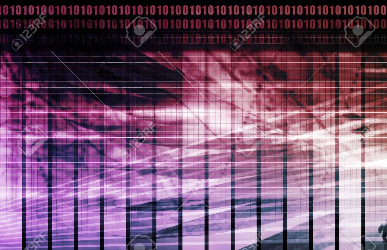 Purple Energy Spectrum With Data Grid Lines Stock Photo - 6362361