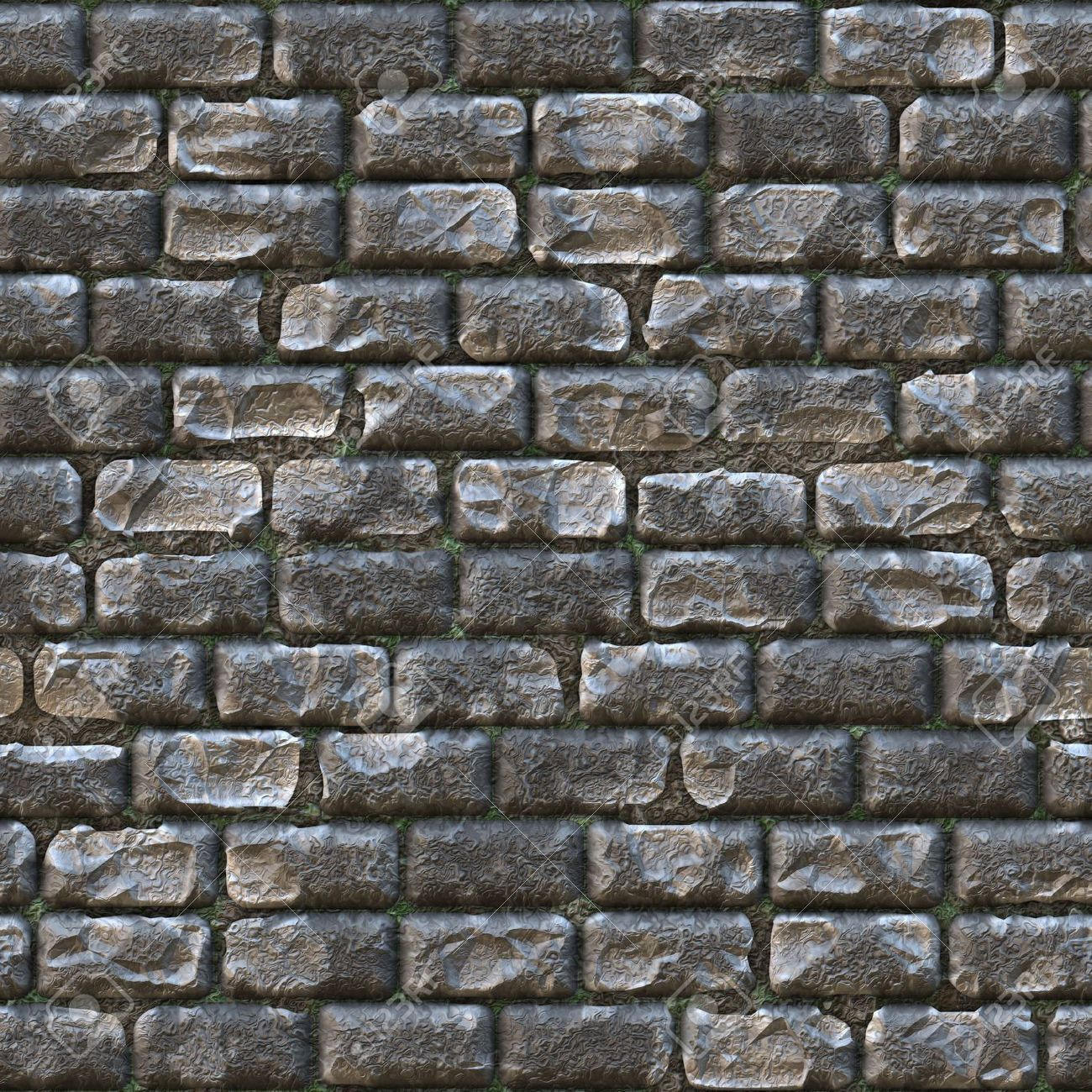 . Seamless Stone Brick Wall as Textured Background