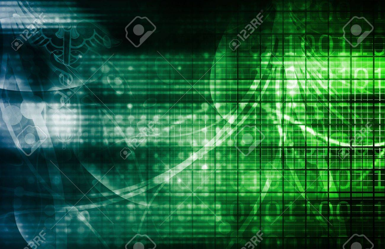 Technology Background as a Digital Abstract Art Stock Photo - 6535595