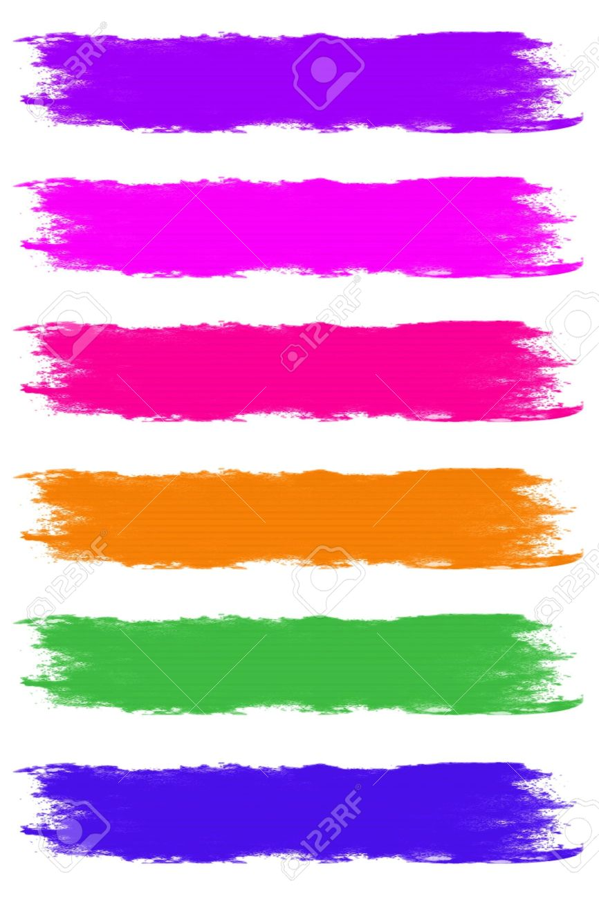 Paint Brush Strokes in Assorted Pastel Colors Stock Photo - 6544696